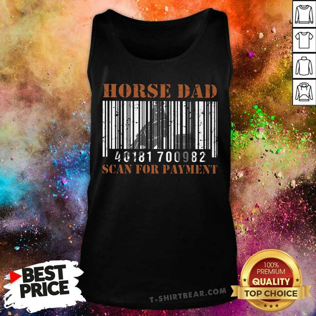 Horse Dad Scan For Payment Tank Top - Design by T-shirtbear.com