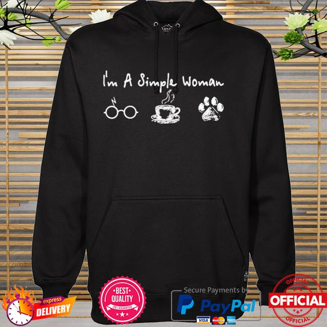 I'm a simple woman I like harry potter coffee and dog hoodie