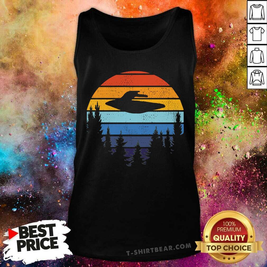 I Want To Believe Retro UFO Tank Top - Design by T-shirtbear.com