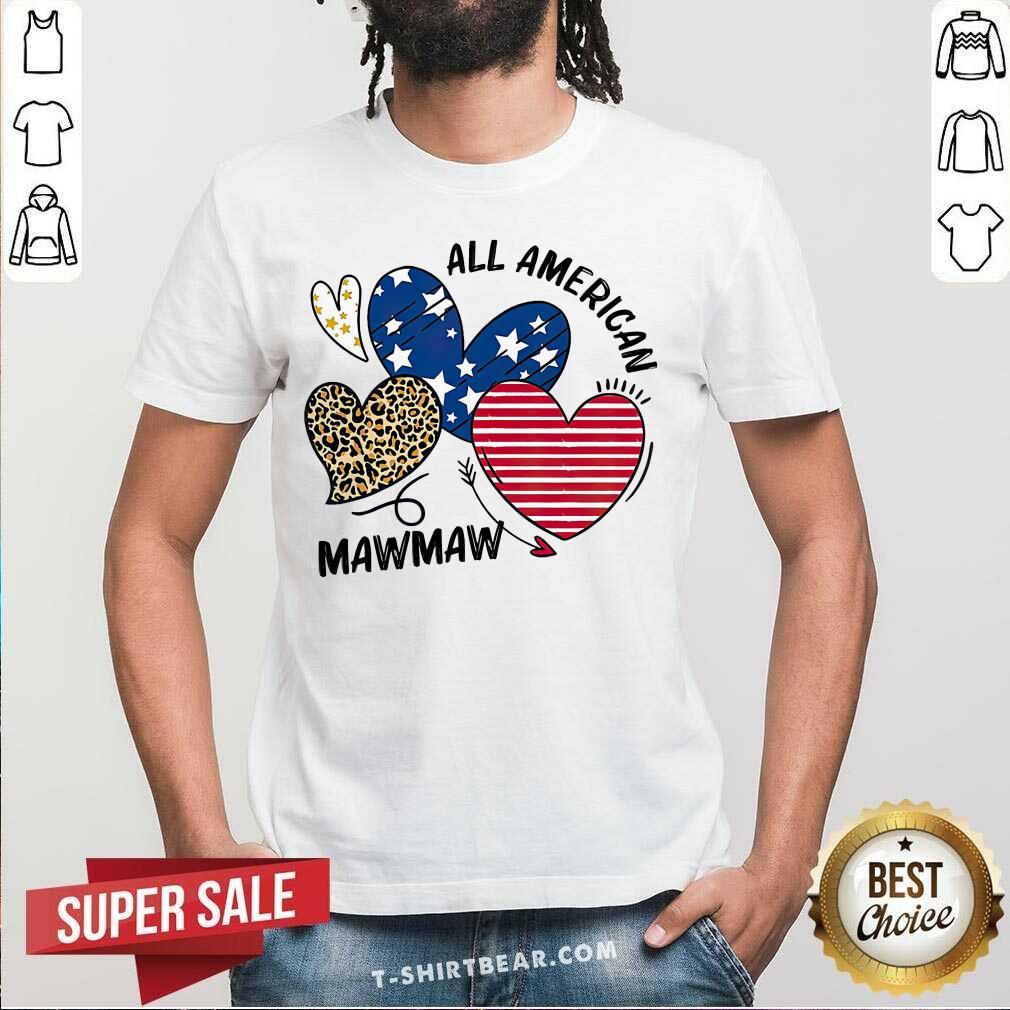 Nice Heart All American Mawmaw Shirt - Design by T-shirtbear.com