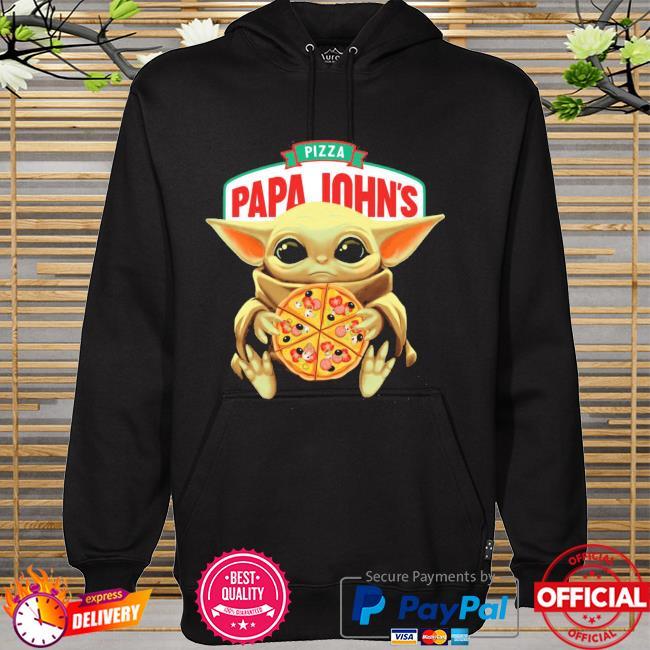 Official star wars baby Yoda hug pizza papa johns hoodie