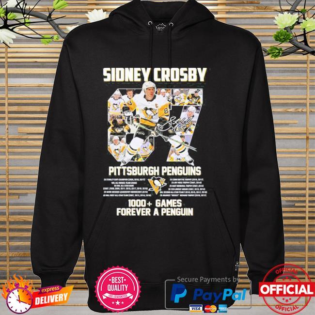 Original 87 sidney crosby Pittsburgh penguins 1000 games forever a penguins hoodie