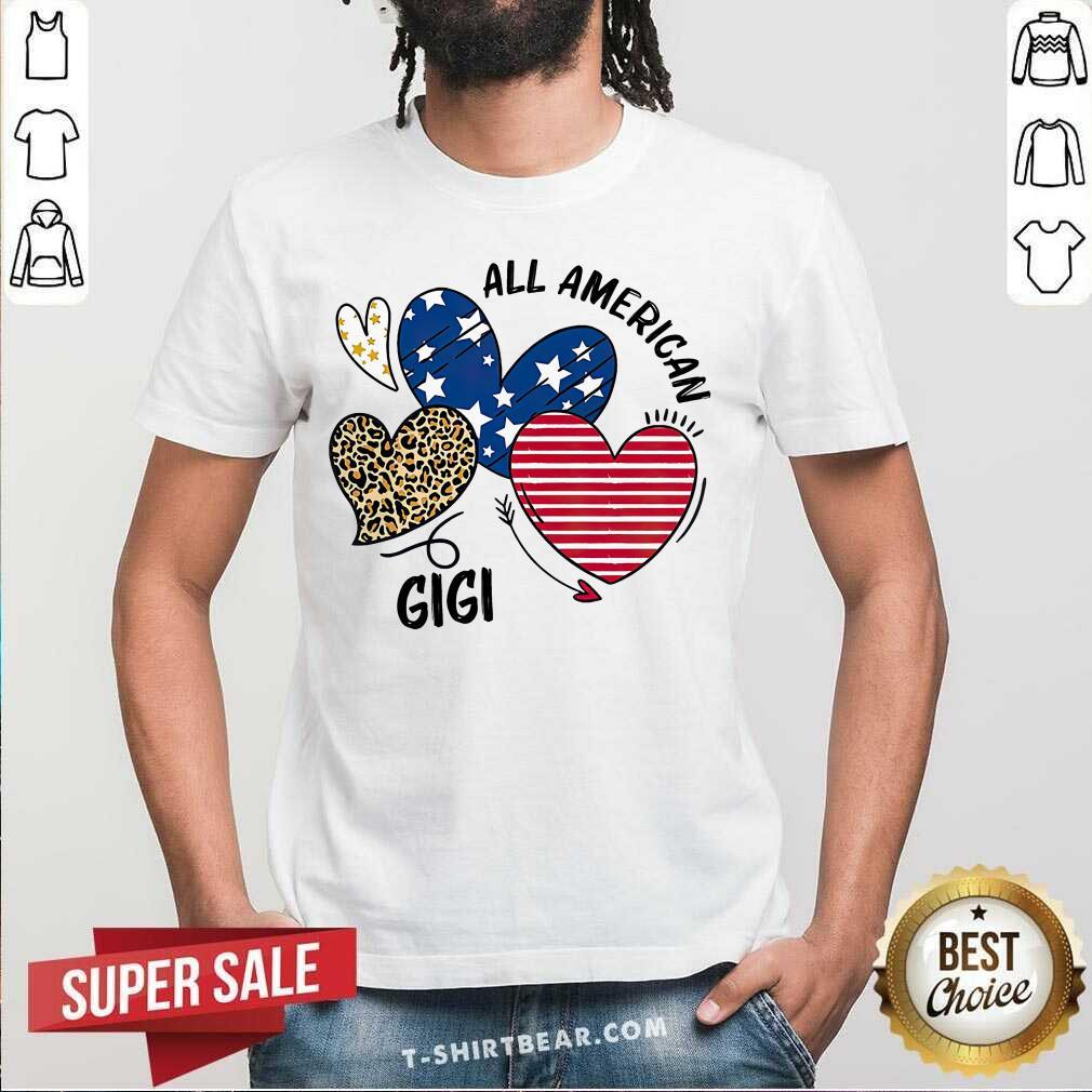 Premium Heart All American GiGi Shirt - Design by T-shirtbear.com