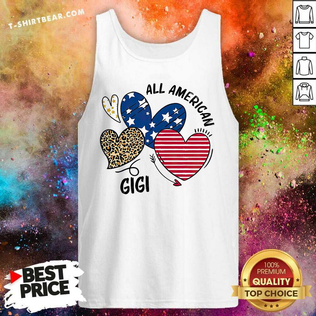 Premium Heart All American GiGi Tank Top - Design by T-shirtbear.com