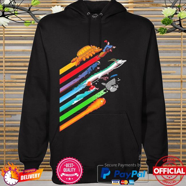 Rainbow studio ghibli hoodie