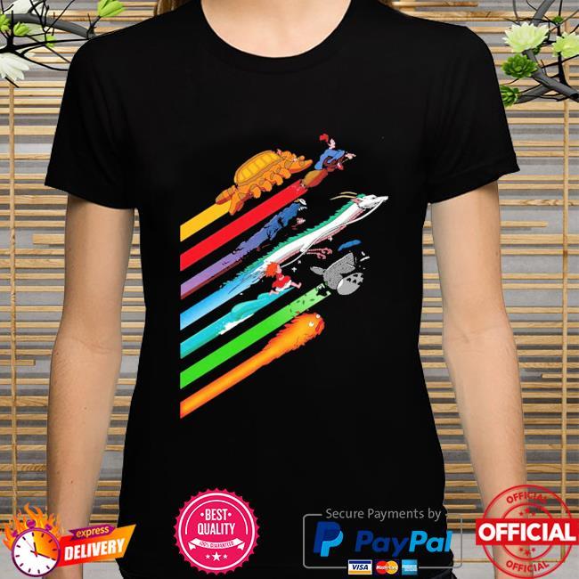 Rainbow studio ghibli shirt