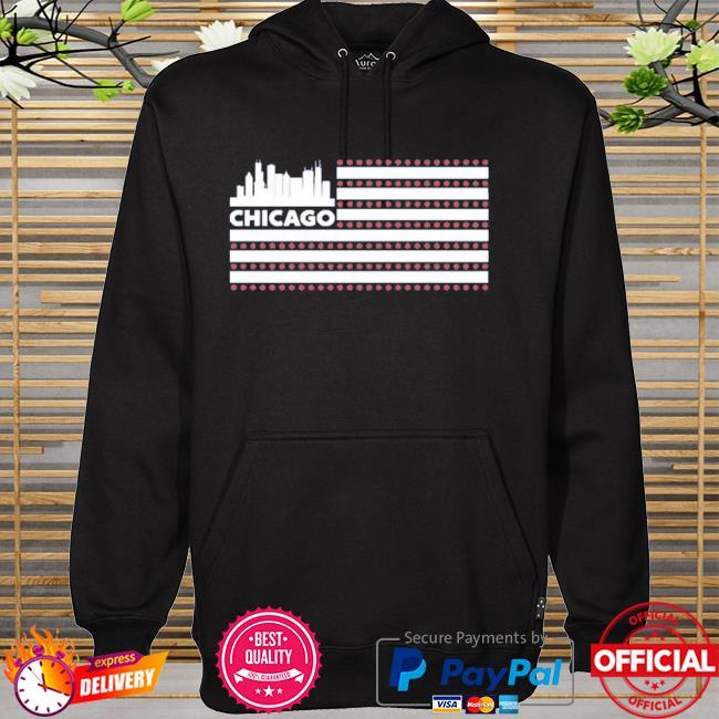 Red line radio flag chicago hoodie