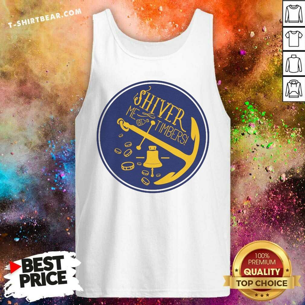 Shiver Me Timbers Anchor Rum Bells And Gold Tank Top - Design by T-shirtbear.com