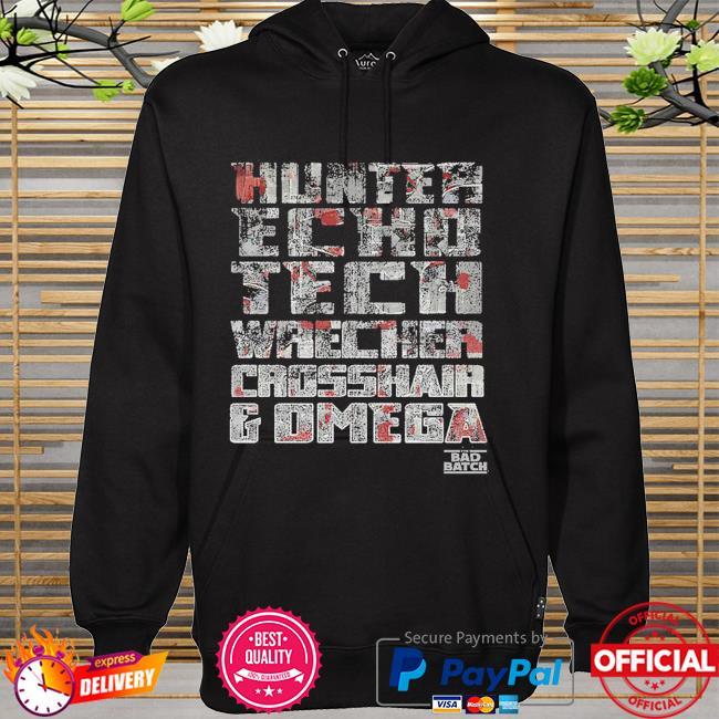Star Wars The Bad Batch hunter echo tech wrecker omega hoodie