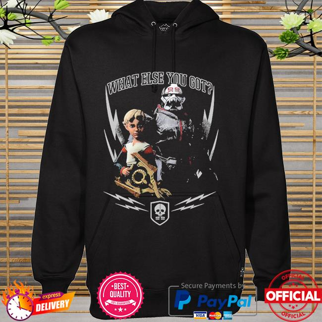 Star Wars The Bad Batch What Else You Got Omega and Wrecker hoodie