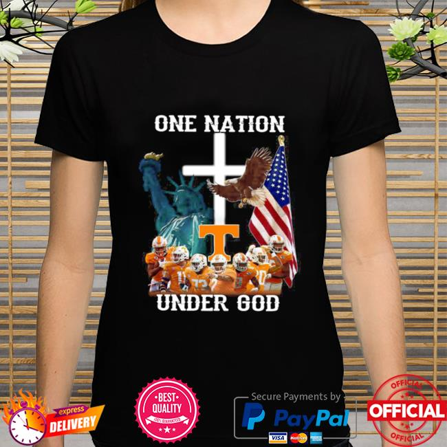 Tennessee Volunteers one nation under god shirt