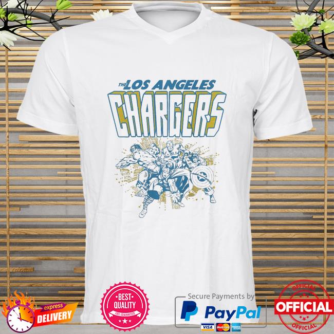 The Los Angeles Chargers Marvel shirt