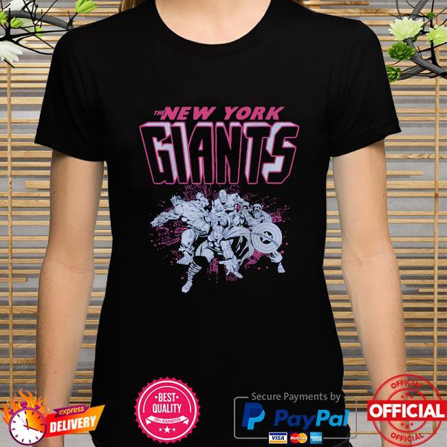 The New York Giants Marvel shirt