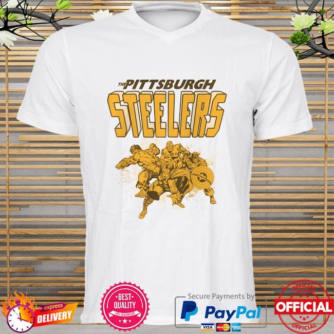 The Pittsburgh Steelers Marvel Avengers shirt